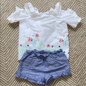 Janie and Jack top and shorts (3T)